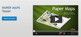 paper maps paper maps the stage for your 3d maps and icons by orange box