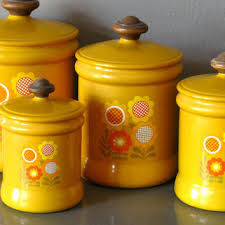 yellow canister sets kitchen shop metal kitchen canister sets on wanelo
