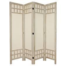 tall room dividers 5 1 2 ft tall window pane fabric room divider 4 panel oriental