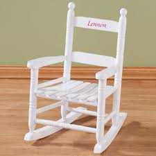 Childrens Rocking Chairs Personalized Personalized Child U0027s White Rocker Children U0027s Miles Kimball