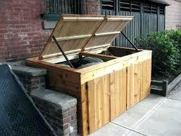 garbage storage outdoor garbage bins hidden outdoor cedar trash