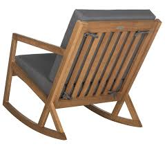 Outdoor Wood Rocking Chair Amazon Com Safavieh Mcr4734d Outdoor Collection Vernon Rocking