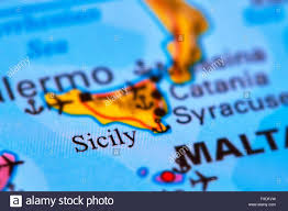 Italy World Map by Sicily Island In Italy On The World Map Stock Photo Royalty Free