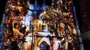 san fernando cathedral light show san antonio the saga 4k hd san fernando cathedral light show