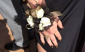 Black And White Corsage Prom Shop Duchess Florals And Wedding Flowers