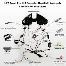 aliexpress com buy kt headlight for yamaha yzf r6 2006 2007 led