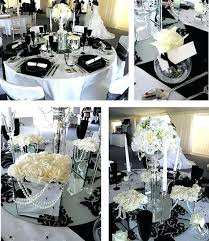 black and white centerpieces black and white table decorations centerpieces amazing black and
