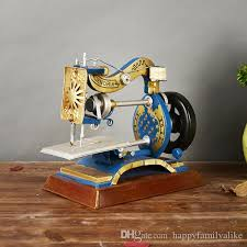 2017 antique sewing machine ornaments desktop metal decor vintage
