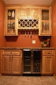 built in wine bar cabinets wine cooler for kitchen cabinets hickory bar voicesofimani com