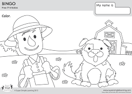 bingo coloring pages super simple