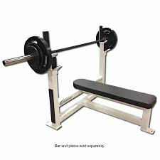 Weight Bench With Bar - fitness flat olympic weight bench 3105