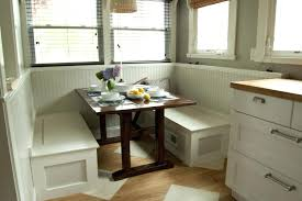 Dining Room Table With Bench And Chairs Dining Table With Corner Bench Seat This Breakfast Nook Unit