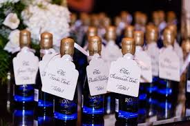 Blue Favors by A Blue White Gold Wedding At Duke Chapel