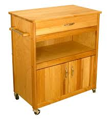 Microwave Carts With Storage Catskill Craftsmen Wide Cuisine Cart Model 51575
