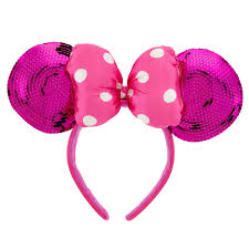 pink headband minnie mouse ears headband for pink sequin shopdisney