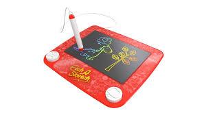 new lcd etch a sketch replaces white knobs with a stylus pen nerdist