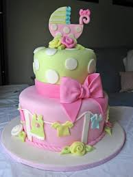 the cutest cake for a baby shower semi cake with topper