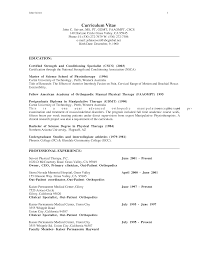 Sample Resume For Physical Therapist by Physical Therapy Resume Samples Resume For Your Job Application