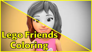 lego friends coloring pages olivia lego friends coloring fun