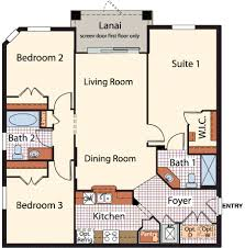 2 Bedroom Condo Floor Plan Point Meadows Place Community In Jacksonville Florida