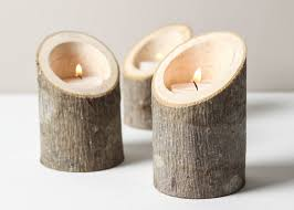 wooden candle holders for fireplace candles decoration