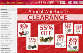 annual warehouse clearance promotion up to 55 on best