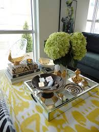 Ikat Ottoman Yellow Ikat Ottoman Coffee Table Contemporary Living Room La