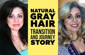 images of grey hair in transisition natural gray hair my journey and transition youtube
