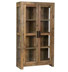 Curio Cabinet With Glass Doors Angora Reclaimed Wood Curio Cabinet Glass Doors Doors