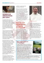 irish thanksgiving prayer july 2016 edition of saint mary u0027s newsletter dominicans u2013 pope u0027s