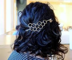 handmade hair large brass honeycomb handmade hair bun slide pin with