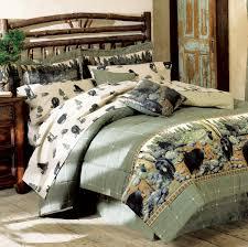 Blackforest Decor Rustic Bedding Queen Size Black Bear Comforter Set Black Forest Decor
