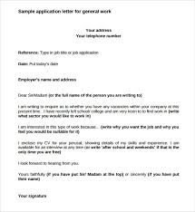 application letter availability date 7 application letter samples sample letters word