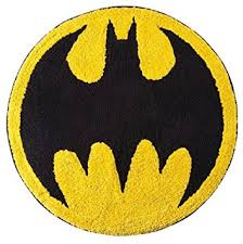 Round Bathroom Rugs Amazon Com Bat Signal Round Bath Rug Batman Home U0026 Kitchen