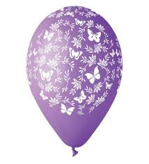 Butterfly Balloons Assorted Colours Printed Latex Balloons