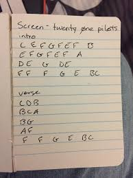 twenty one pilots screen piano keys because i can u0027t read sheet