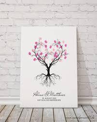 wedding tree gästebuch herzbaum auf leinwand hochzeitsreich by göbel