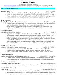Resume For Video Production Lauren Dugan Resume