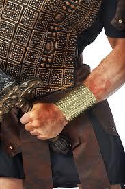 amazon com costume culture s gladiator stud wrist cuff gold