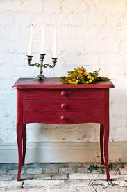 burgundy chalk paint annie sloan