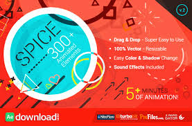 spice 300 animated elements videohive template free