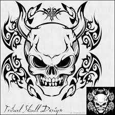 tribal skull design by skoriginals on deviantart