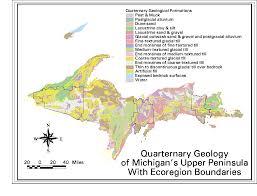 Upper Michigan Map by Quaternary Geology Of Michigan U0027s Upper Peninsula