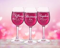 wine glass party favor 9 personalized wedding party favors wine glasses custom glasses