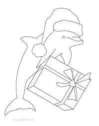 christmas dolphin coloring dolphinkind