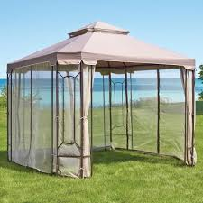 Replacement Awnings For Gazebos Hampton Bay Replacement Netting For 10 Ft X 10 Ft Cottleville