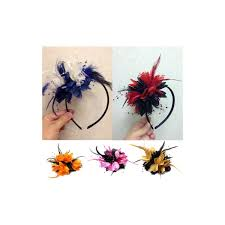 headband online bespoke handmade fascinator corsage flower two colours on clip