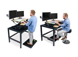 Sit Stand Treadmill Desk by Standee Boost Adjustable Desktop Standing Desk Combo Pack Standeeco