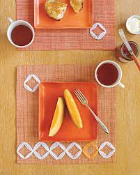 thanksgiving placemat crafts embroidery projects martha stewart