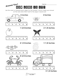 measuring worksheets inches worksheets